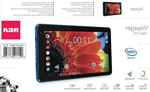 "Premium Performance Voyager 7"" Tablet Quad-Core Processor 1G Memory Bluetooth Android"