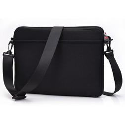 Laptop Sleeve with Removable Strap and Pockets Neoprene Case