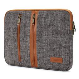 DOMISO 10 Inch Laptop Sleeve Canvas Notebook with Zipper Tab
