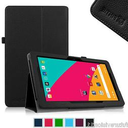 """Leather Case Cover Stylus Loop for Dragon Touch X10 10"""" inch"""