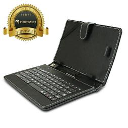 Leather USB QWERTY Keyboard Folio Magnetic Case Stand + Styl