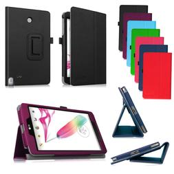 For LG G Pad F 8.0 8-Inch Tablet V495 V496 Folio PU Leather