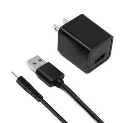 2.5mm 5 Ft Long 2A AC/DC Wall Power Charger Adapter Cord Com