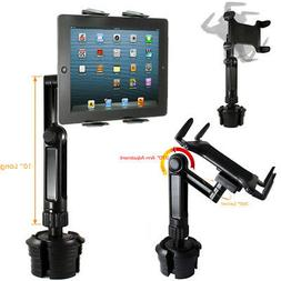LONG ARM Car Cup Holder Mount FOR APPLE iPad AIR PRO 12.9 SU