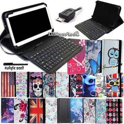 For Model Tablets Universal Folio Leather Stand Cover Case W