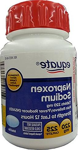 Naproxen Sodium Caplets 220mg 225ct, by Equate, Compare to A