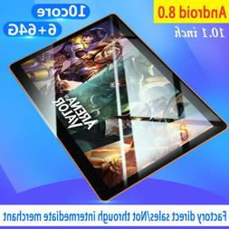 """New 10"""" HD Game Tablet PC Ten Core 6+64G Android 8.0 GPS 3G"""