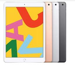"New Sealed Apple 10.2"" iPad 7th Gen 32GB 128GB Gray Gold Sil"