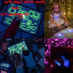 Paint Glow Light Tablet Draw With Light Fun Developing Toy M