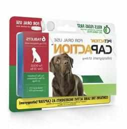 Petaction CAPACTION 6 tablets Kills Fleas Dogs OVER 25 lbs N