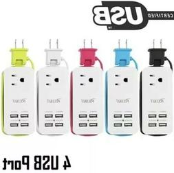 Portable Charging Station 4 USB Port 1A/2A Phone Tablet Airp