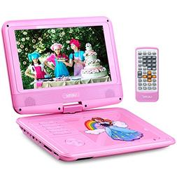 "UEME 9"" Portable DVD Player with Swivel Screen 