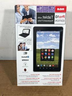 RCA Pro10 edition tablet with Folio Keyboard, 16GB Android
