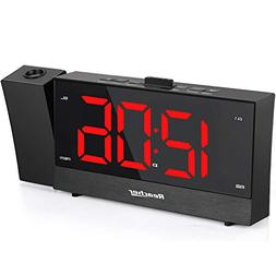 REACHER Projection Alarm Clock Radio with Dual Alarm USB Sle