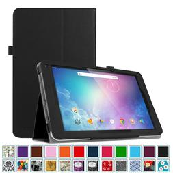 PU Leather Case Folio Stand Cover for Dragon Touch V10 10-In