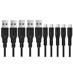 Ancable 5-Pack Replacement USB Charger Cable for Fire Tablet