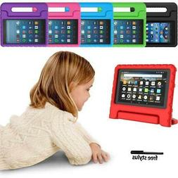 """ShockProof EVA Handle Kids Stand Cover Case For 7"""" 8"""" Amazon"""