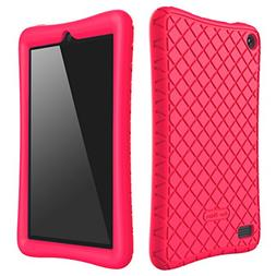 Bear Motion Silicone Case for Fire 7 2017 - Anti Slip Shockp