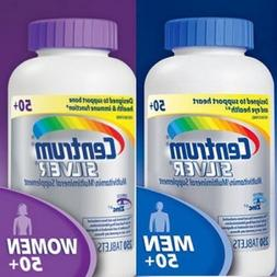 Centrum Silver Women 50+, 250 Tablets and Centrum Silver Men