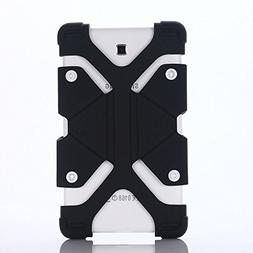 """7"""" 8"""" Tablet Shockproof Silicone Case Cover(black) For D"""