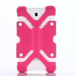 """7"""" 8"""" Tablet Shockproof Silicone Case Cover(Rose) For LG"""