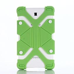 """7"""" 8"""" Tablet Shockproof Silicone Case Cover(Green) For L"""