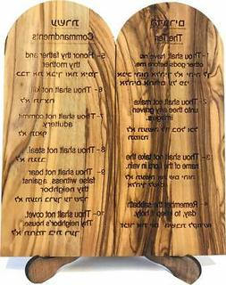 Ten  Commandments Tablets or Decalogue Given to Moses on Mou