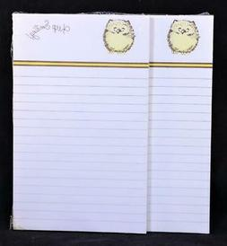 """Two  """"Keep Smiling"""" Lined Write-On Tablets. 50 Sheets Each."""