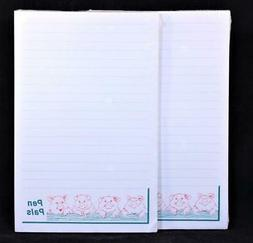 """Two  """"Pen Pals"""" 50 Sheet Lined Write-On Tablets. 12356"""