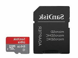 Ultra 64GB microSDXC UHS-I Card with Adapter Grey/Red Standa