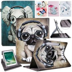 "Universal 360 Rotating Leather Stand Case Cover For 10"" 10.1"