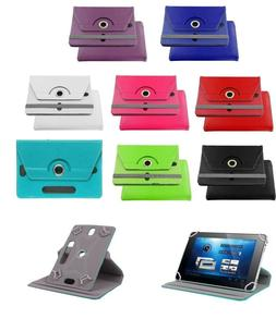 """UNIVERSAL 8"""" inch Leather Protective Stand Case Cover for An"""