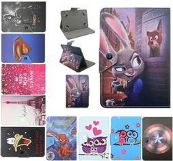 Universal Cartoon Tablet Case PU Leather Cover For All Lenov