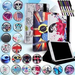 Universal FOLIO LEATHER STAND CASE COVER For Various 7 inch