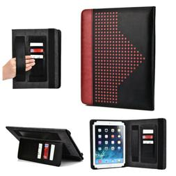 Universal Folio Tablet Case with Card and Hand Strap for 8 t