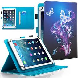 9.5-10.5 inch Universal iPad Case,Dteck Slim Folding Multi-a