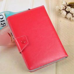 Universal Leather Folding Folio Case Cover For Android PC 7""