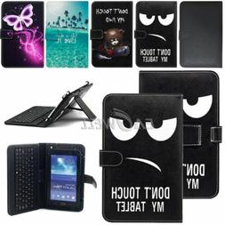 "US For Amazon Kindle Fire 7"" 8"" 10"" Tablet Leather Micro USB"