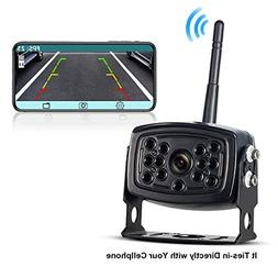 Wireless Phone Backup Camera Reversing Camera Trucks RV Trai