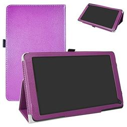 Yuntab D102 Case,Mama Mouth PU Leather Folio 2-folding Stand